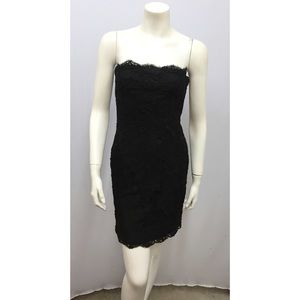 Calvin Klein Brocade Lace Cocktail Dress SZ 4 XS